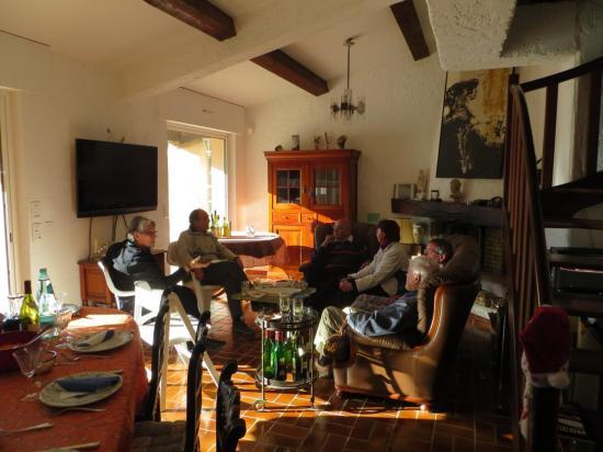 Avec les copains, notre maison à Croix Valmer, la fête